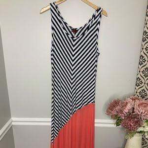 MOJO Striped Sleeveless Summer Maxi Dress-sz XL